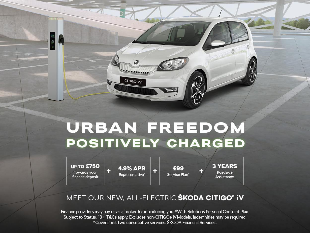 All New Skoda Citigo Iv Deals Special Offers At All Electric
