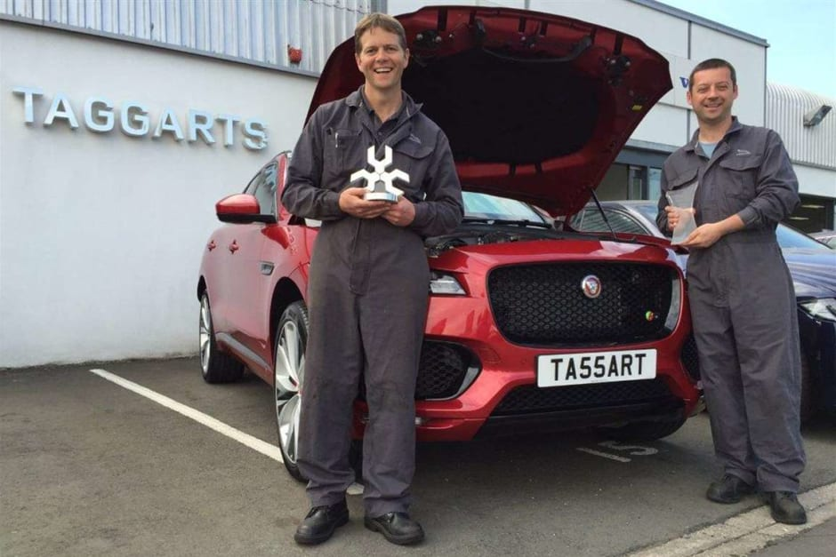 Taggarts' Technicians Take Top Ps in Jaguar Land Rover Awards