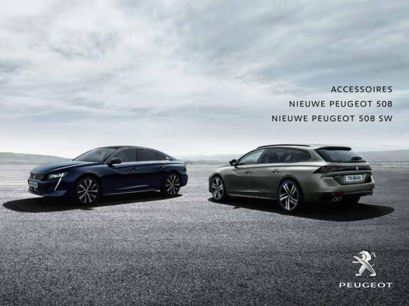 Brochure accessoires Peugeot 508 en Peugeot 508 SW