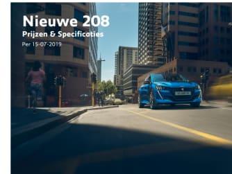 Prijslijst Peugeot 208