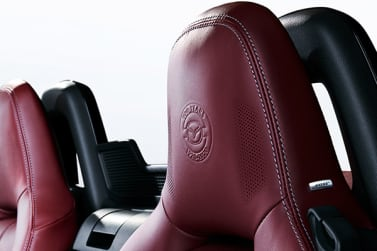 New Mazda 100th Anniversary Edition head restraints