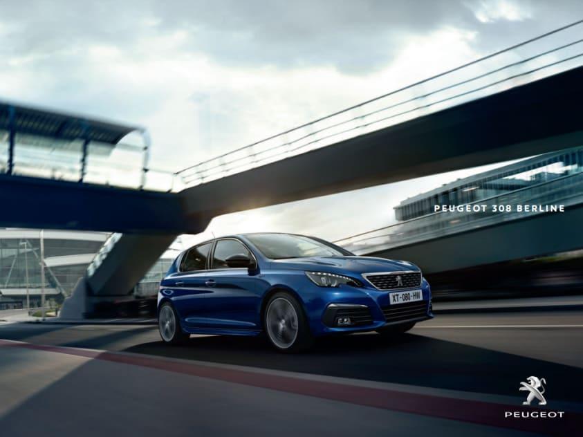 Brochure Peugeot 308 berline en SW