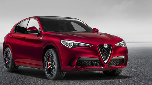 Alfa Romeo Stelvio Red Front Exterior