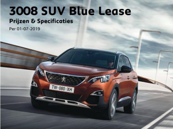 Prijslijst Peugeot 3008 SUV Blue Lease