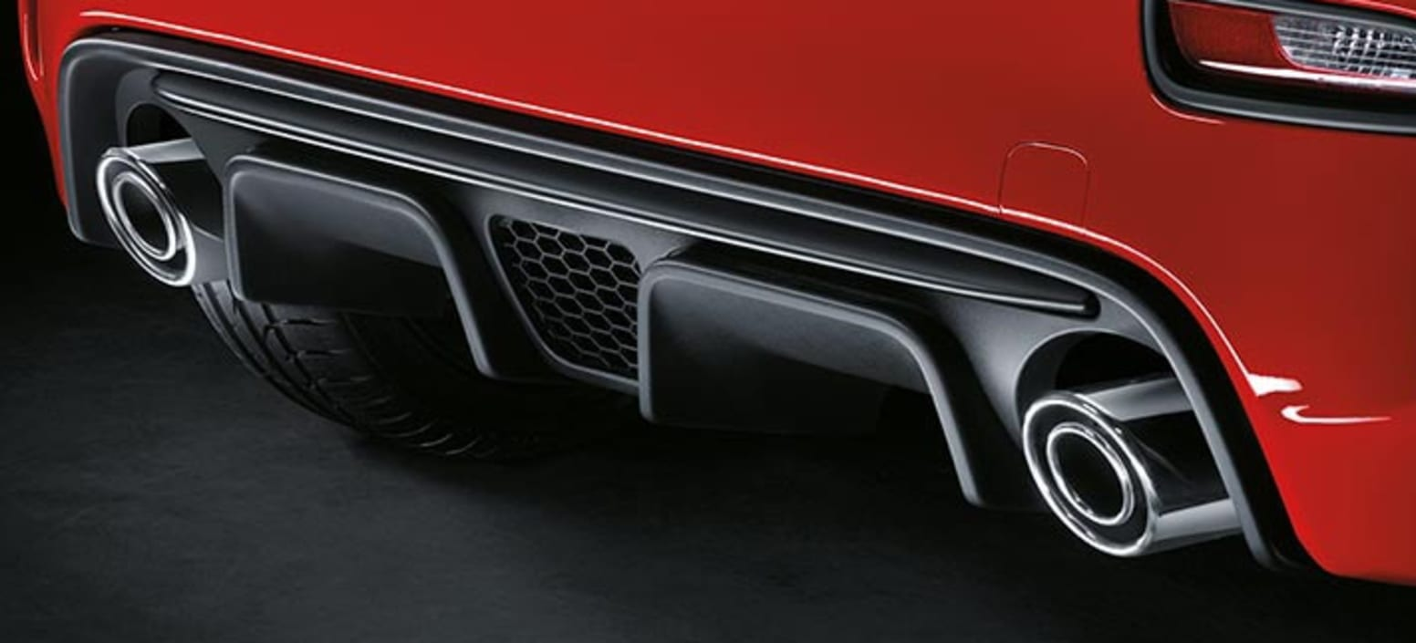Red Abarth 595 Dual Exhaust