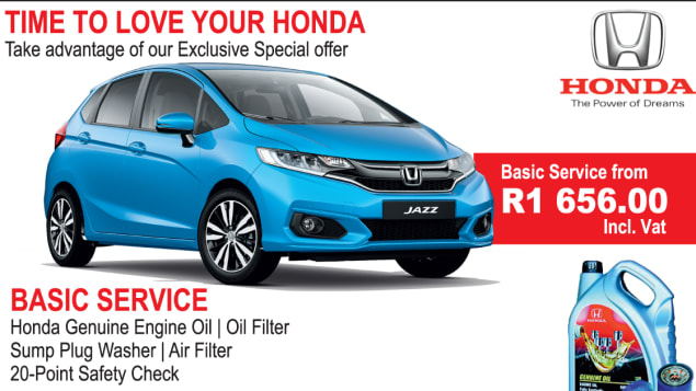 Basic Service Offer Honda Toti