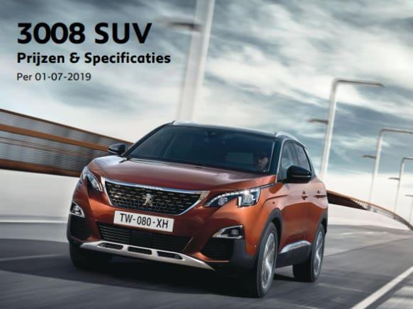 Prijslijst Peugeot 3008 SUV