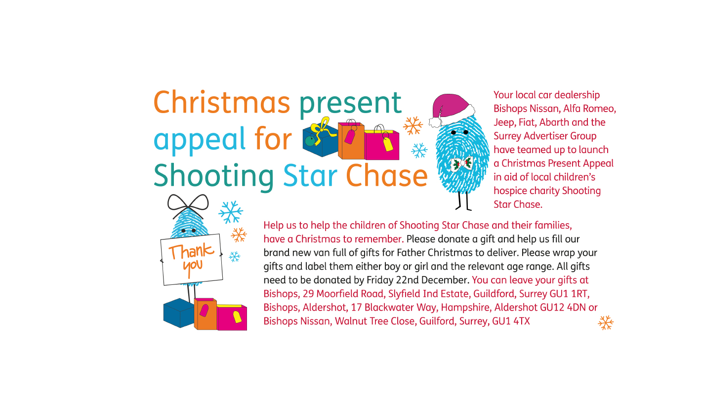 Christmas present appeal for Shooting Star Chase | FG Barnes