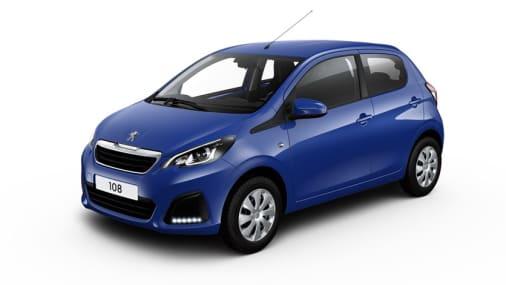 Peugeot 108 blauw