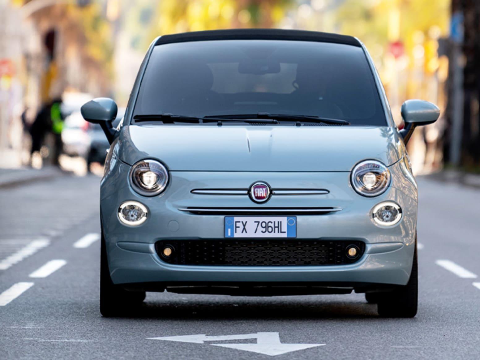 Blue Fiat 500 Hybrid Exterior Front