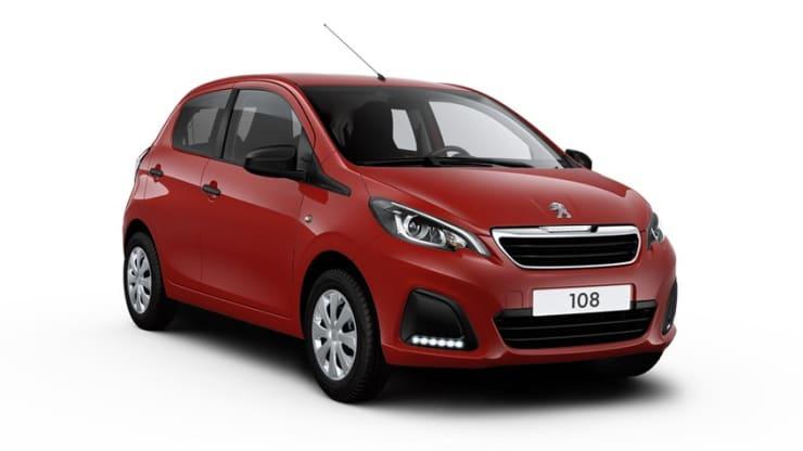 Peugeot 108 rood