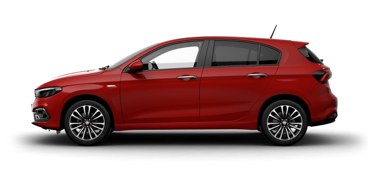 Red Fiat Tipo 1.0 Life Side Exterior