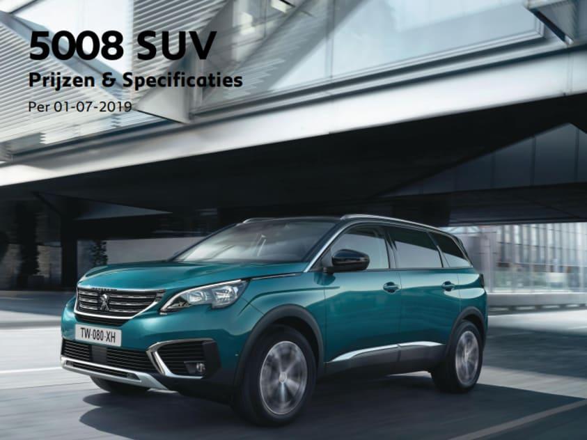 Prijslijst Peugeot 5008