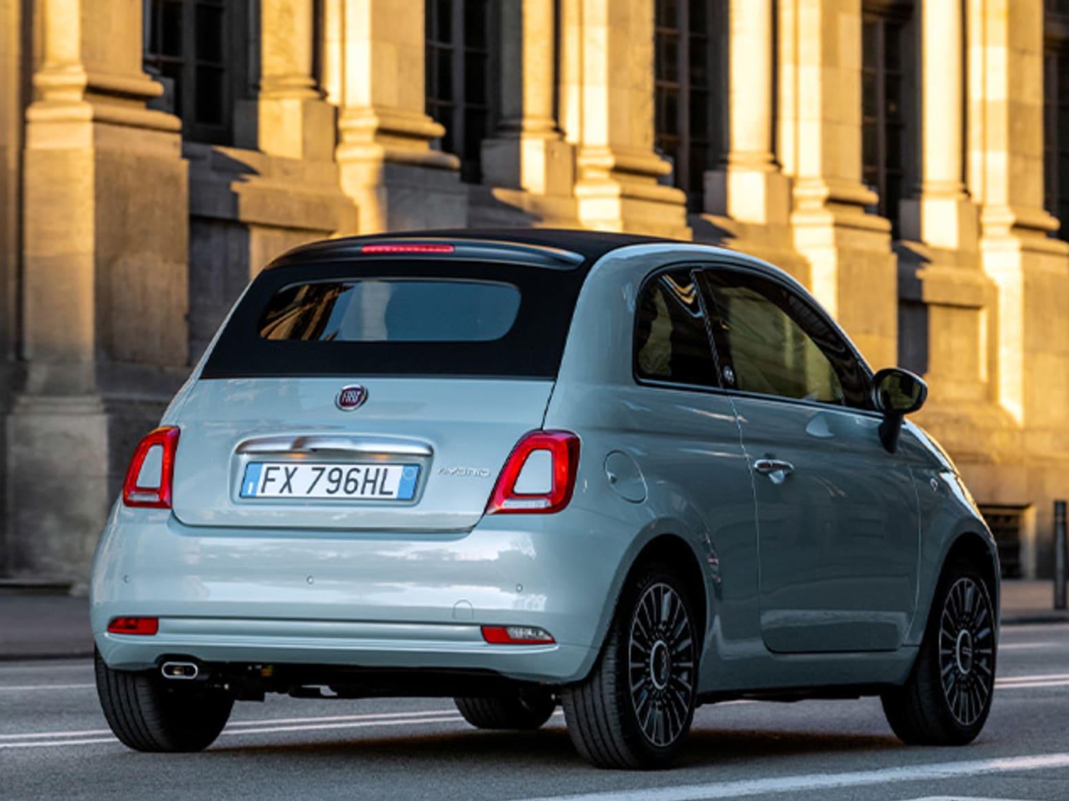 Blue Fiat 500 Hybrid Exterior Back