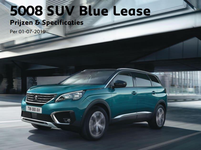 Prijslijst Peugeot 5008 Blue Lease