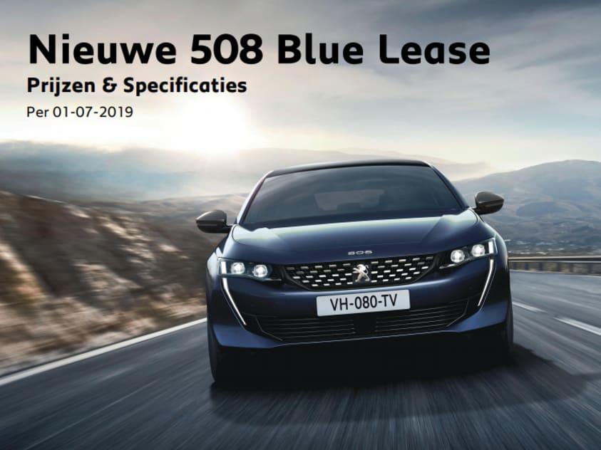 Prijslijst Peugeot 508 Blue Lease