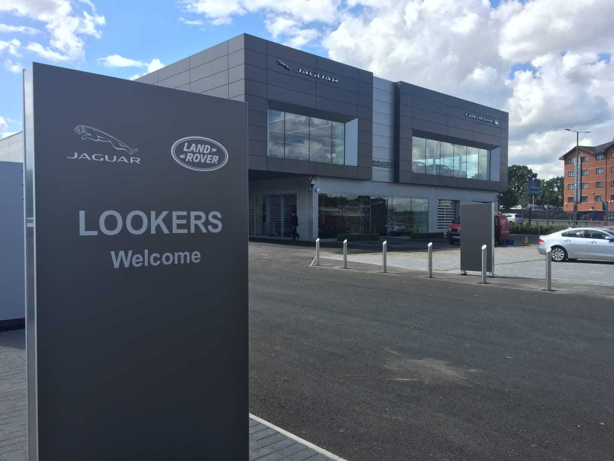 lookers jaguar land rover opens brand new facility in west. Black Bedroom Furniture Sets. Home Design Ideas