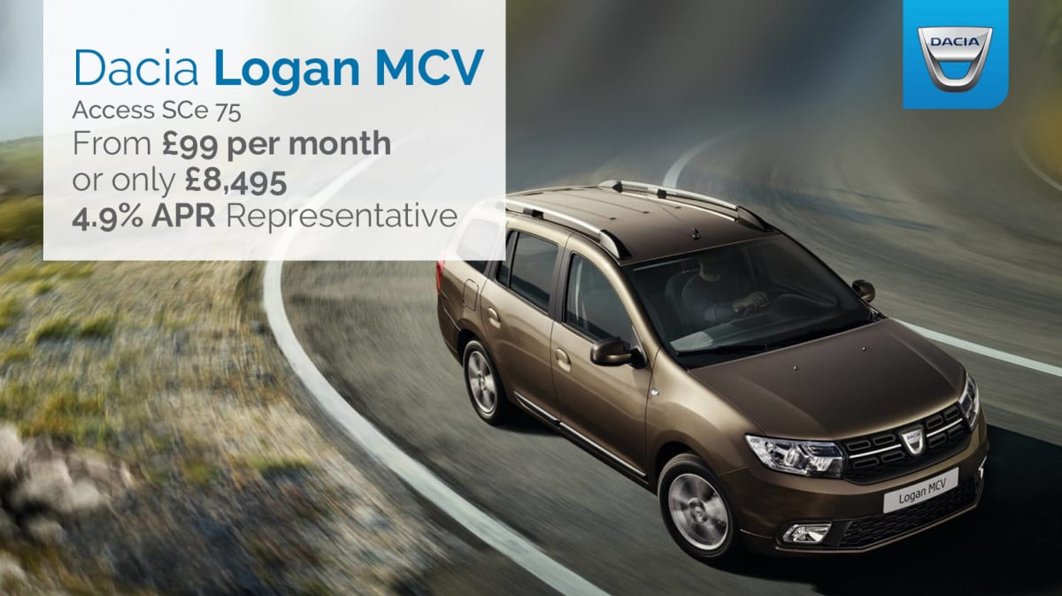 dacia logan mcv access 1 0 sce 75ps across the uk hartwell. Black Bedroom Furniture Sets. Home Design Ideas