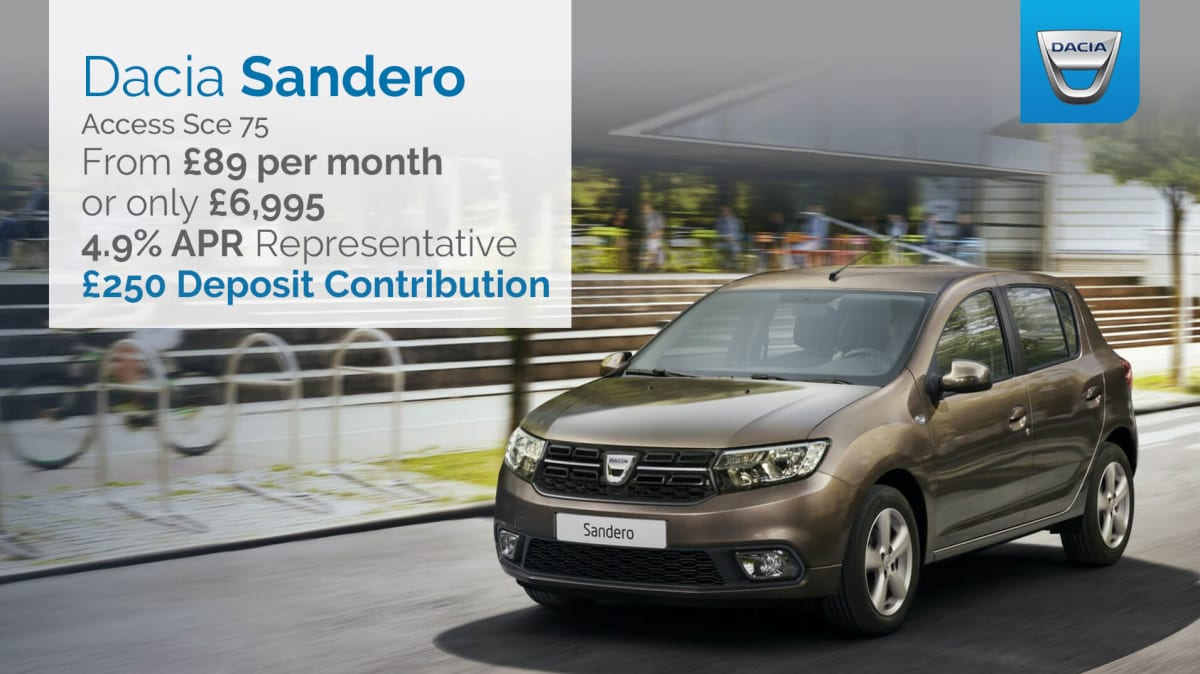 dacia sandero access 1 0 sce 75ps across the uk hartwell. Black Bedroom Furniture Sets. Home Design Ideas
