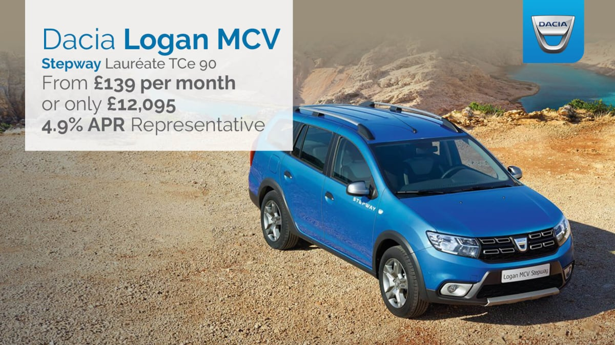 dacia logan mcv stepway laureate tce 90ps across the uk hartwell. Black Bedroom Furniture Sets. Home Design Ideas