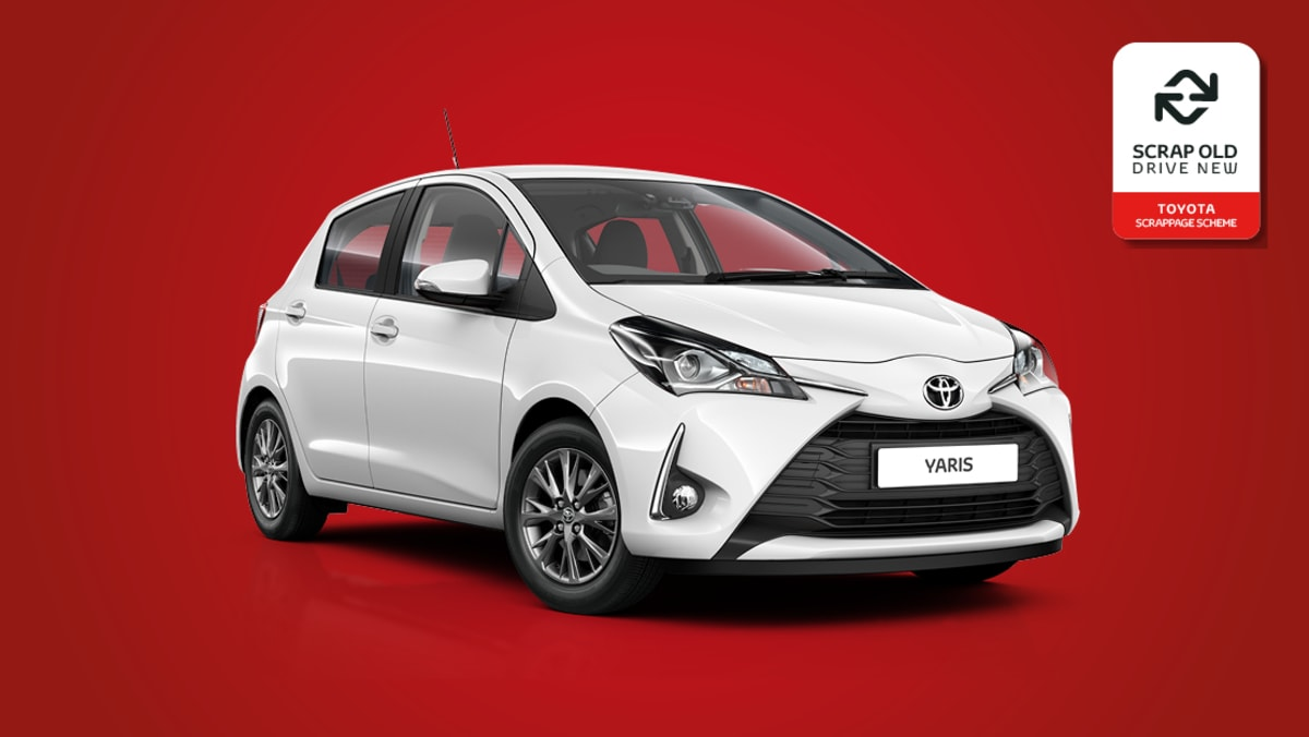 toyota yaris toyota yaris hybrid toyota scrappage. Black Bedroom Furniture Sets. Home Design Ideas