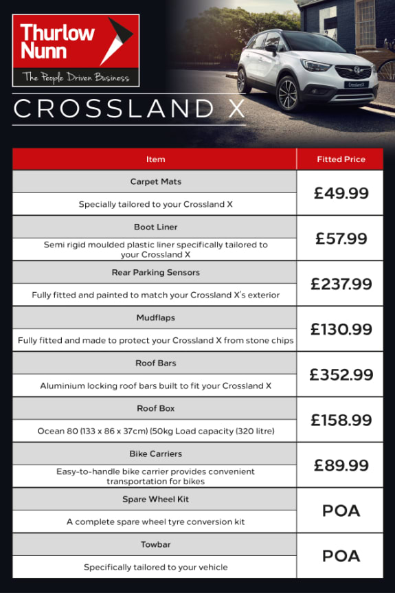 Crossland X Accessories