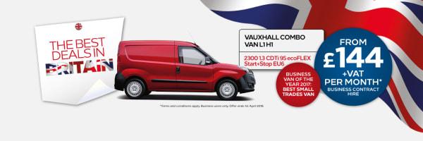 New Vauxhall Combo Van
