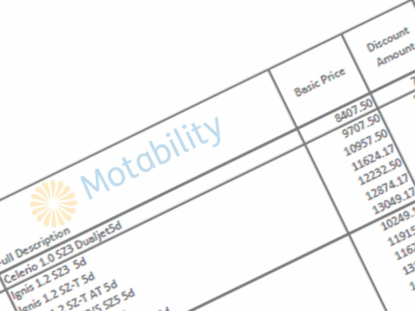 Motability Price List 2019 Q3 | Knutsford, Cheshire, Manchester