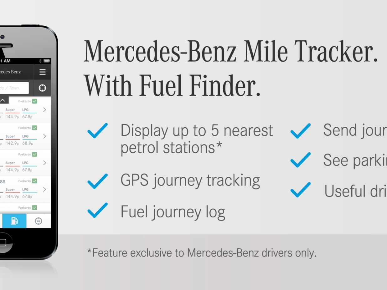mile tracker app lookers mercedes benz