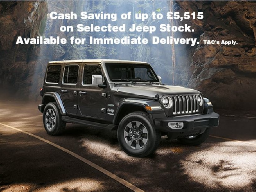 New Jeep Stock Offer - Up to £5,515 Cash Saving on Selected