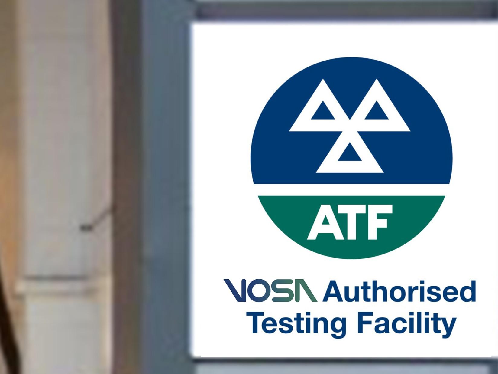 MOT Tachograph Centre Sign VOSA Compliant