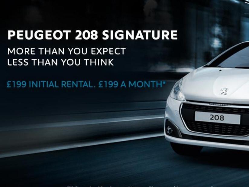 Peugeot 208 | £199 Initial Rental & £199 per month