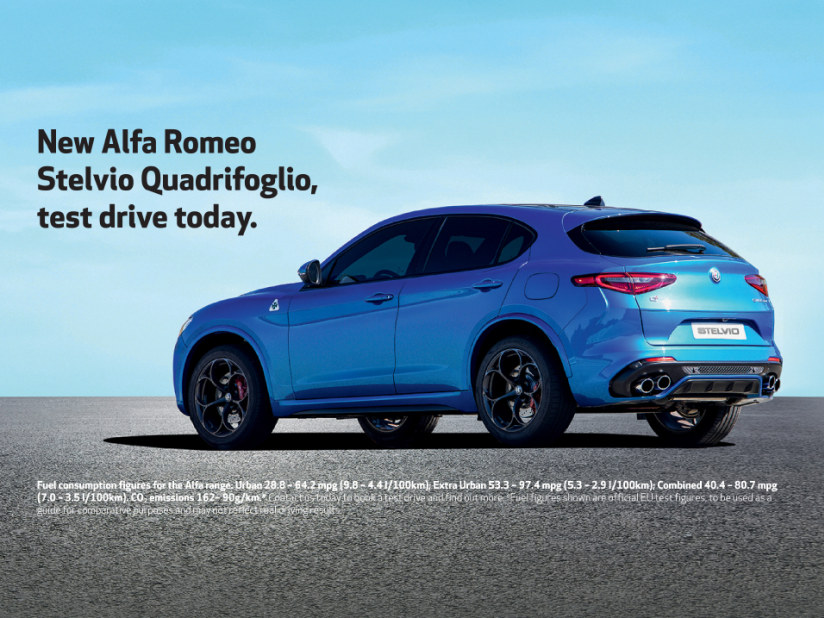 Alfa Romeo Stelvio Quadrifoglio From 649 Per Month On Personal
