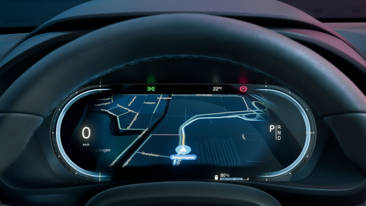 Volvo C40 state of the art dashboard