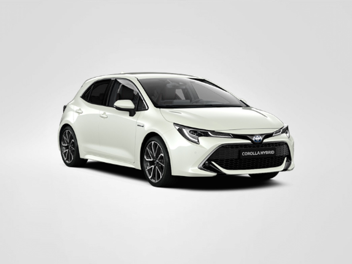 Model shown is Corolla Hybrid Design +TRK 1.8 VVT-i Auto £27,160 including optional Pearlescent paint at £900