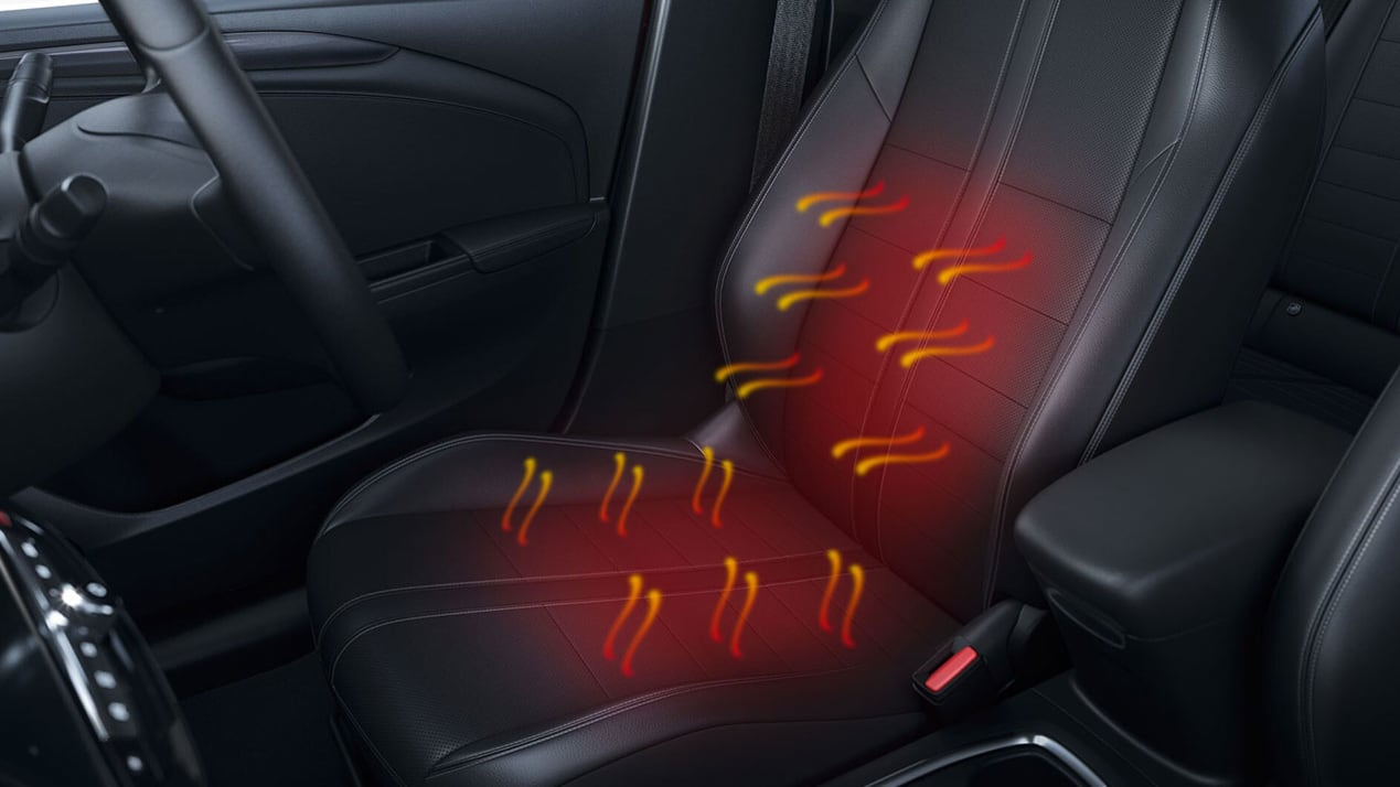 Heated Seat interior shot All-New Vauxhall Corsa