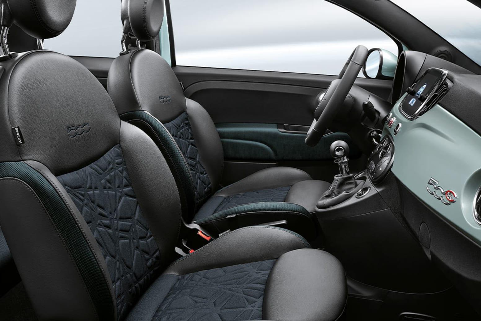 Fiat 500 Hybrid Interior Front Seats