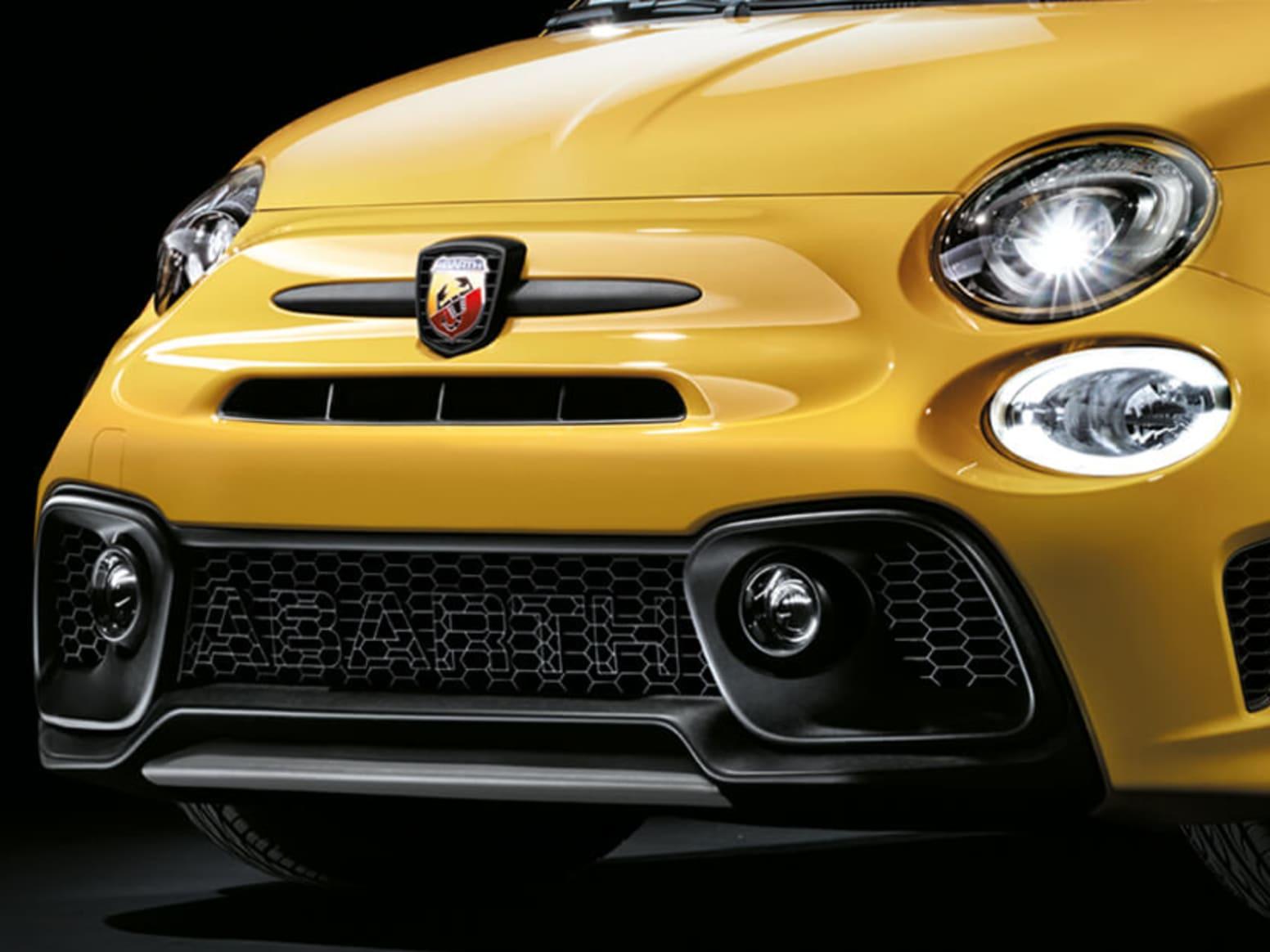 Yellow Abarth 595 Competizione Front