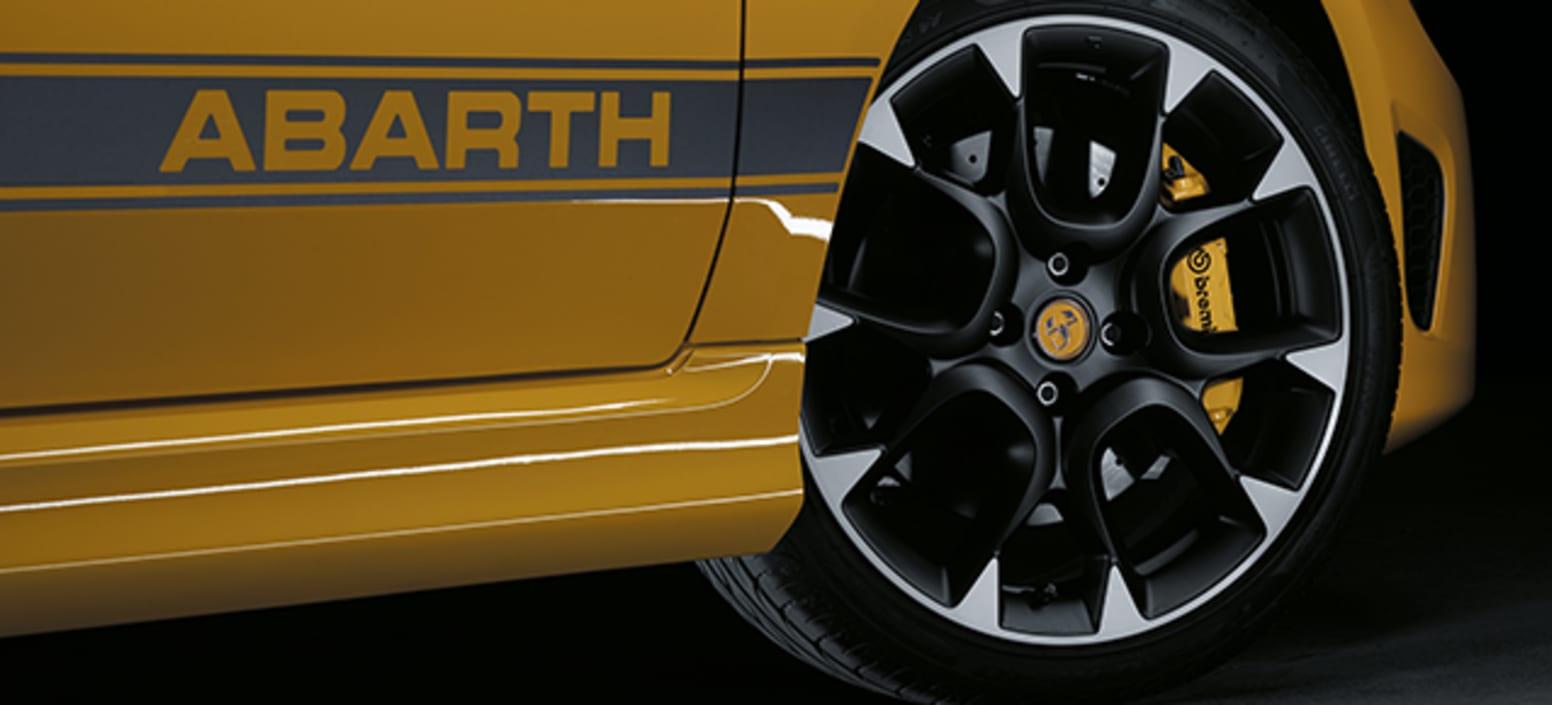 Yellow Abarth 595 Competizione Wheel