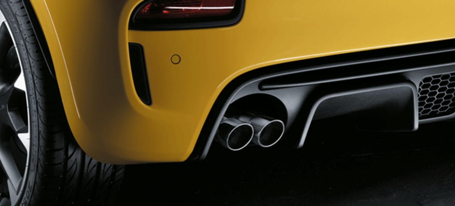 Yellow Abarth 595 Competizione Exhaust