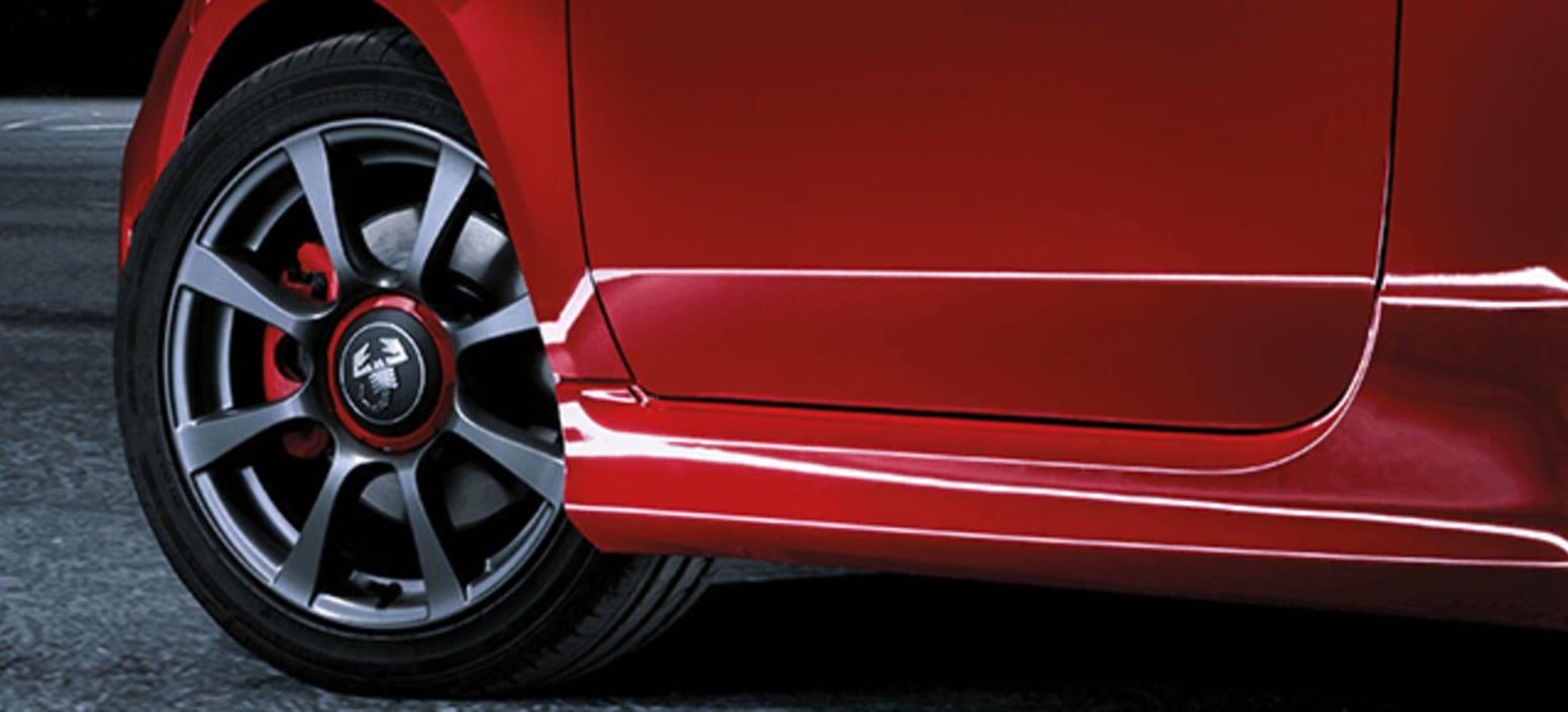 Red Abarth 595 Wheels