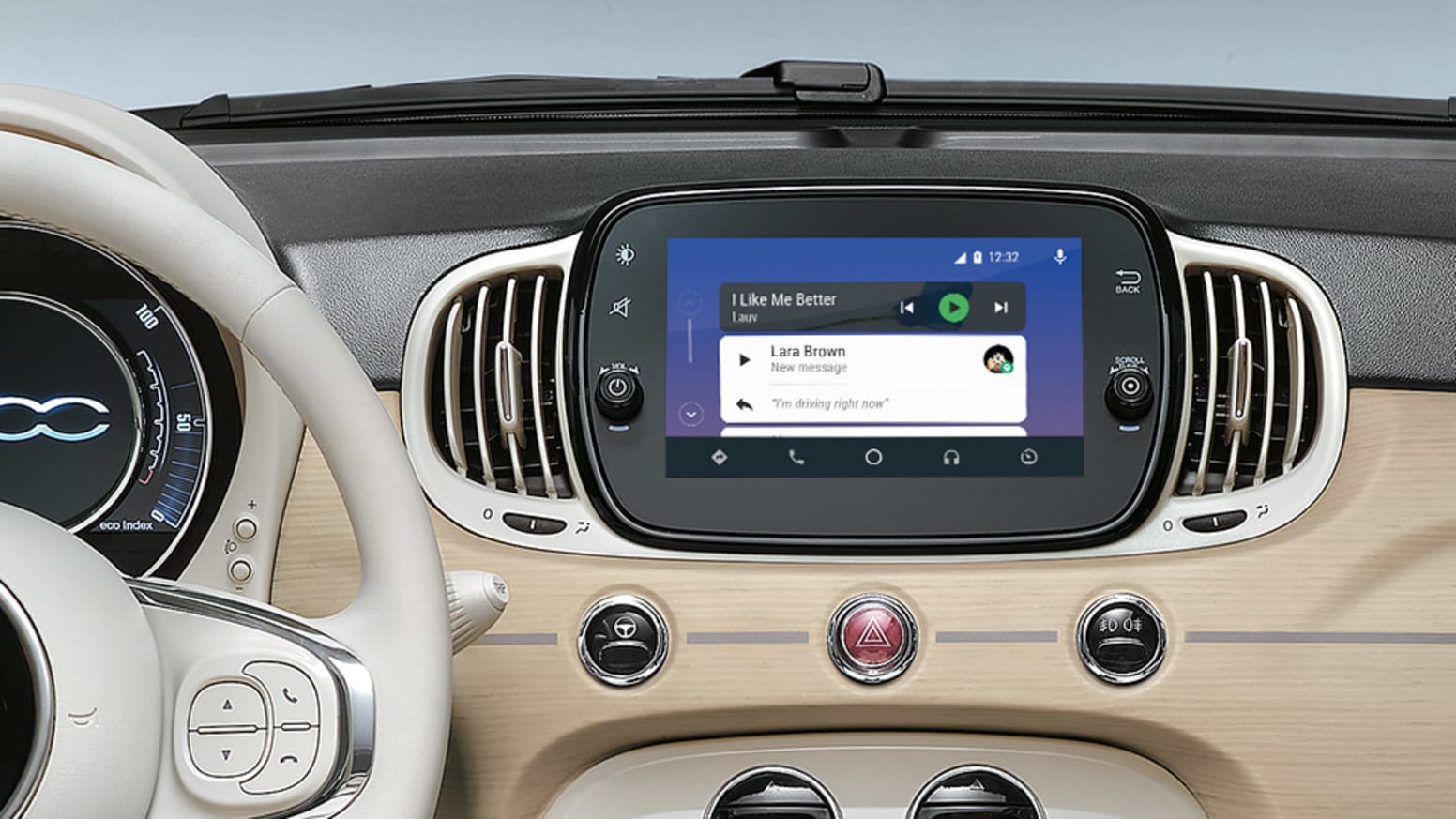 Fiat 500C Dolcevita Android Auto