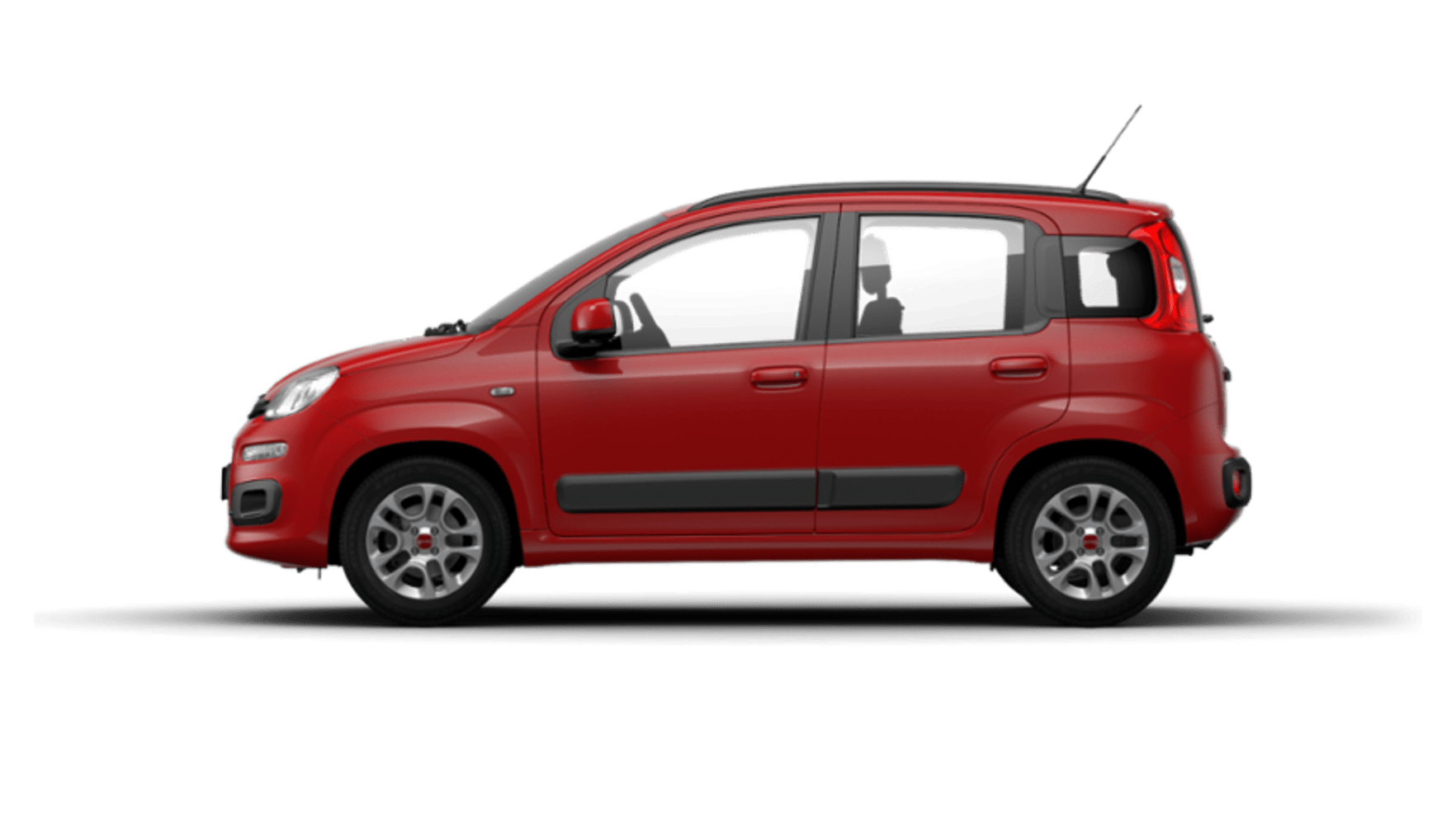 Red Fiat Panda Lounge Side Exterior
