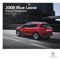 Prijslijst Peugeot 2008 Blue Lease