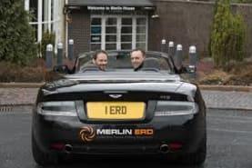 Black Aston Martin DB9