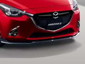Mazda Front Airdam Skirt in Brilliant Black​