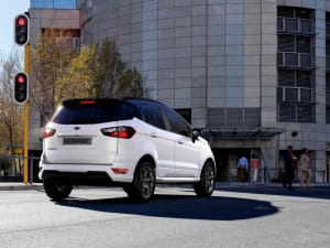 White Ford Ecosport St Line At Traffic Lights