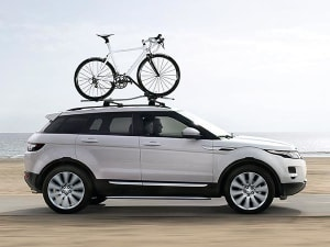bike roof topic bikes carrying caravan talk towing rover community landrover loaded cycling rack land on