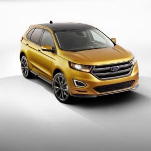 Yellow Ford Edge Front View