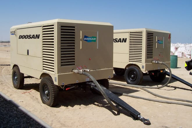 Doosan Portable Air Compressors | Al-Futtaim FAMCO UAE